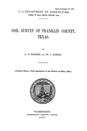 Primary view of object titled 'Soil survey of Franklin County, Texas'.