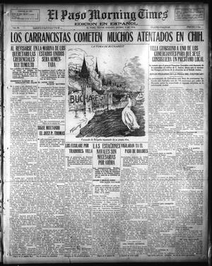 Primary view of object titled 'El Paso Morning Times (El Paso, Tex.), Vol. 36TH YEAR, Ed. 1, Saturday, December 9, 1916'.