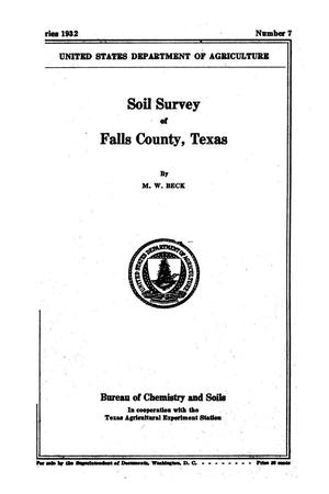 Primary view of object titled 'Soil survey of Falls County, Texas'.