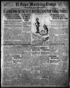 Primary view of object titled 'El Paso Morning Times (El Paso, Tex.), Vol. 36TH YEAR, Ed. 1, Sunday, December 31, 1916'.