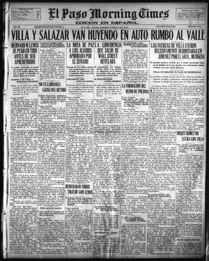 Primary view of object titled 'El Paso Morning Times (El Paso, Tex.), Vol. 36TH YEAR, Ed. 1, Saturday, January 6, 1917'.