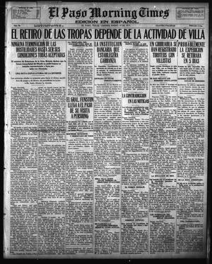 Primary view of object titled 'El Paso Morning Times (El Paso, Tex.), Vol. 36TH YEAR, Ed. 1, Friday, January 19, 1917'.