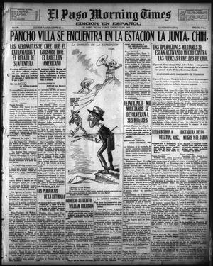 Primary view of object titled 'El Paso Morning Times (El Paso, Tex.), Vol. 36TH YEAR, Ed. 1, Monday, January 22, 1917'.