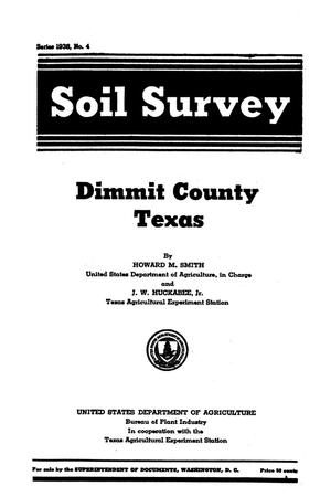 Primary view of object titled 'Soil Survey for Dimmit County, Texas'.