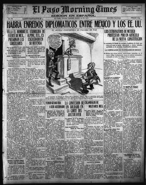 Primary view of object titled 'El Paso Morning Times (El Paso, Tex.), Vol. 36TH YEAR, Ed. 1, Friday, January 26, 1917'.