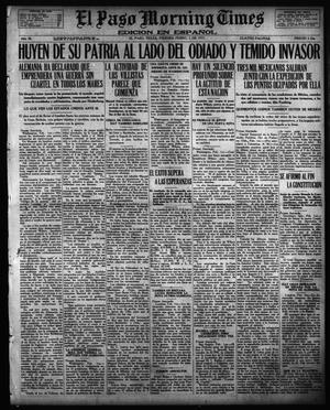Primary view of object titled 'El Paso Morning Times (El Paso, Tex.), Vol. 36TH YEAR, Ed. 1, Friday, February 2, 1917'.