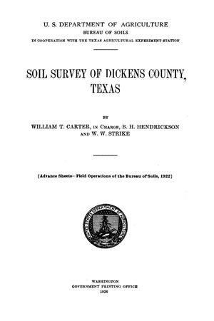 Soil survey of Dickens County, Texas