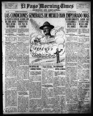 Primary view of object titled 'El Paso Morning Times (El Paso, Tex.), Vol. 36TH YEAR, Ed. 1, Thursday, February 8, 1917'.