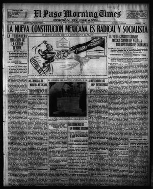 Primary view of object titled 'El Paso Morning Times (El Paso, Tex.), Vol. 36TH YEAR, Ed. 1, Monday, February 26, 1917'.
