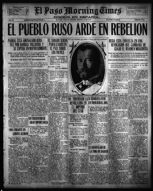 Primary view of object titled 'El Paso Morning Times (El Paso, Tex.), Vol. 36TH YEAR, Ed. 1, Friday, March 16, 1917'.