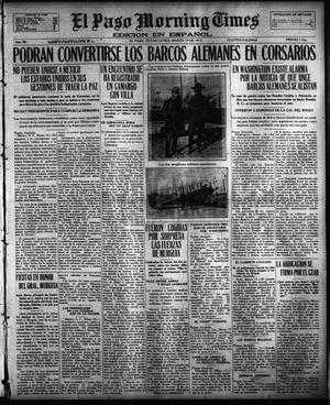Primary view of object titled 'El Paso Morning Times (El Paso, Tex.), Vol. 36TH YEAR, Ed. 1, Monday, March 19, 1917'.