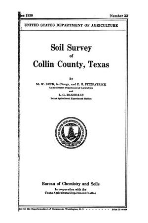 Primary view of object titled 'Soil survey of Collin County, Texas'.
