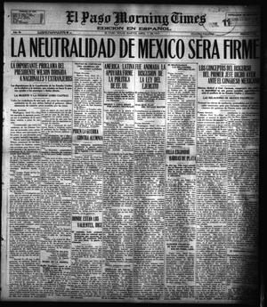 Primary view of object titled 'El Paso Morning Times (El Paso, Tex.), Vol. 36TH YEAR, Ed. 1, Tuesday, April 17, 1917'.