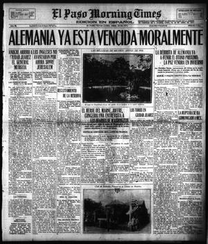 Primary view of object titled 'El Paso Morning Times (El Paso, Tex.), Vol. 36TH YEAR, Ed. 1, Monday, April 30, 1917'.
