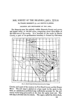 Primary view of object titled 'Soil Survey of the Brazoria Area, Texas'.
