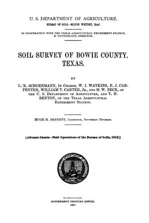 Soil survey of Bowie County, Texas
