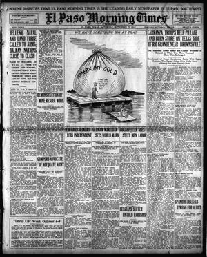 Primary view of object titled 'El Paso Morning Times (El Paso, Tex.), Vol. 36TH YEAR, Ed. 1, Saturday, September 25, 1915'.