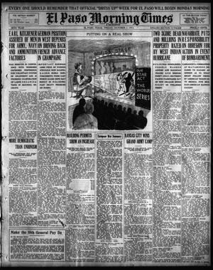 Primary view of object titled 'El Paso Morning Times (El Paso, Tex.), Vol. 36TH YEAR, Ed. 1, Friday, October 1, 1915'.