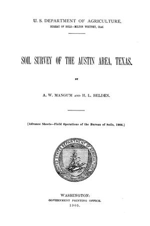 Soil survey of the Austin area, Texas