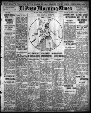 Primary view of object titled 'El Paso Morning Times (El Paso, Tex.), Vol. 36TH YEAR, Ed. 1, Thursday, October 14, 1915'.