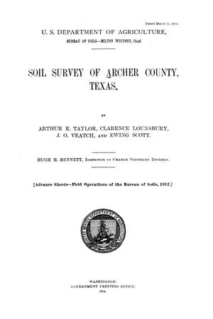 Soil survey of Archer County, Texas