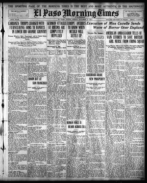 Primary view of object titled 'El Paso Morning Times (El Paso, Tex.), Vol. 36TH YEAR, Ed. 1, Friday, October 22, 1915'.