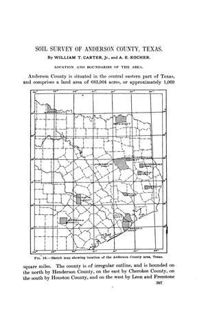 Soil survey of Anderson County, Texas