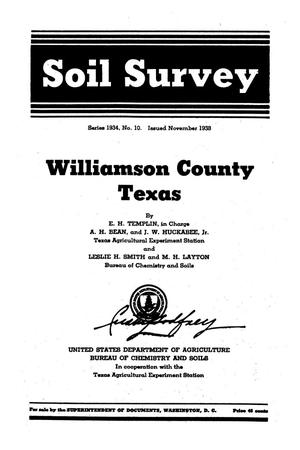 Primary view of object titled 'Soil survey, Williamson County, Texas'.