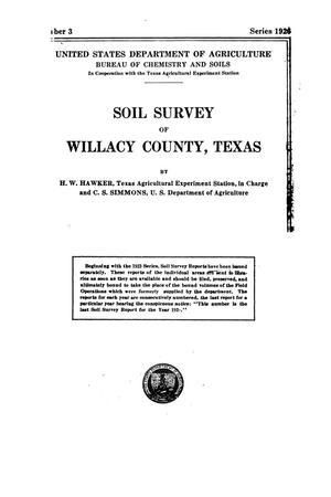 Soil survey of Willacy County, Texas