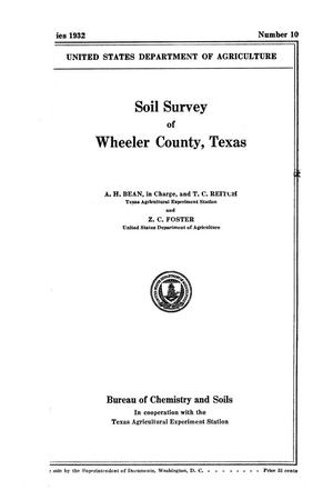 Primary view of object titled 'Soil survey of Wheeler County, Texas'.