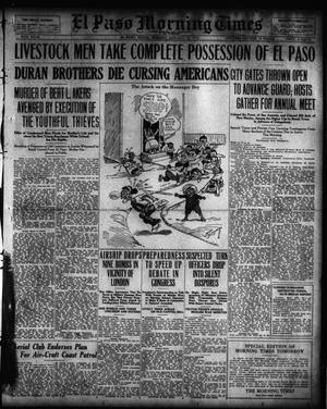Primary view of object titled 'El Paso Morning Times (El Paso, Tex.), Vol. 36TH YEAR, Ed. 1, Monday, January 24, 1916'.