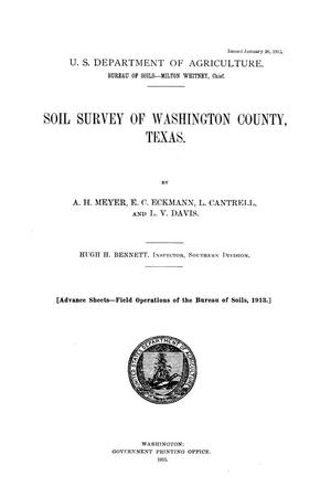 Primary view of object titled 'Soil survey of Washington County, Texas'.