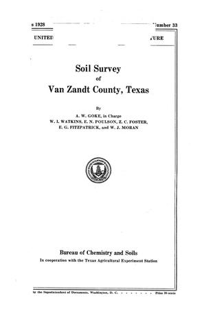 Primary view of object titled 'Soil Survey of Van Zandt County, Texas'.