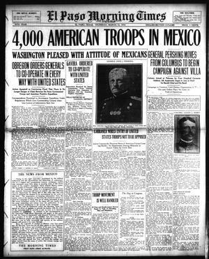 Primary view of object titled 'El Paso Morning Times (El Paso, Tex.), Vol. 36TH YEAR, Ed. 1, Thursday, March 16, 1916'.