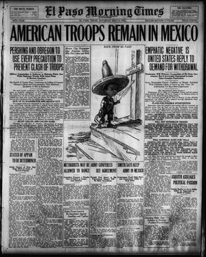 Primary view of object titled 'El Paso Morning Times (El Paso, Tex.), Vol. 36TH YEAR, Ed. 1, Saturday, May 13, 1916'.