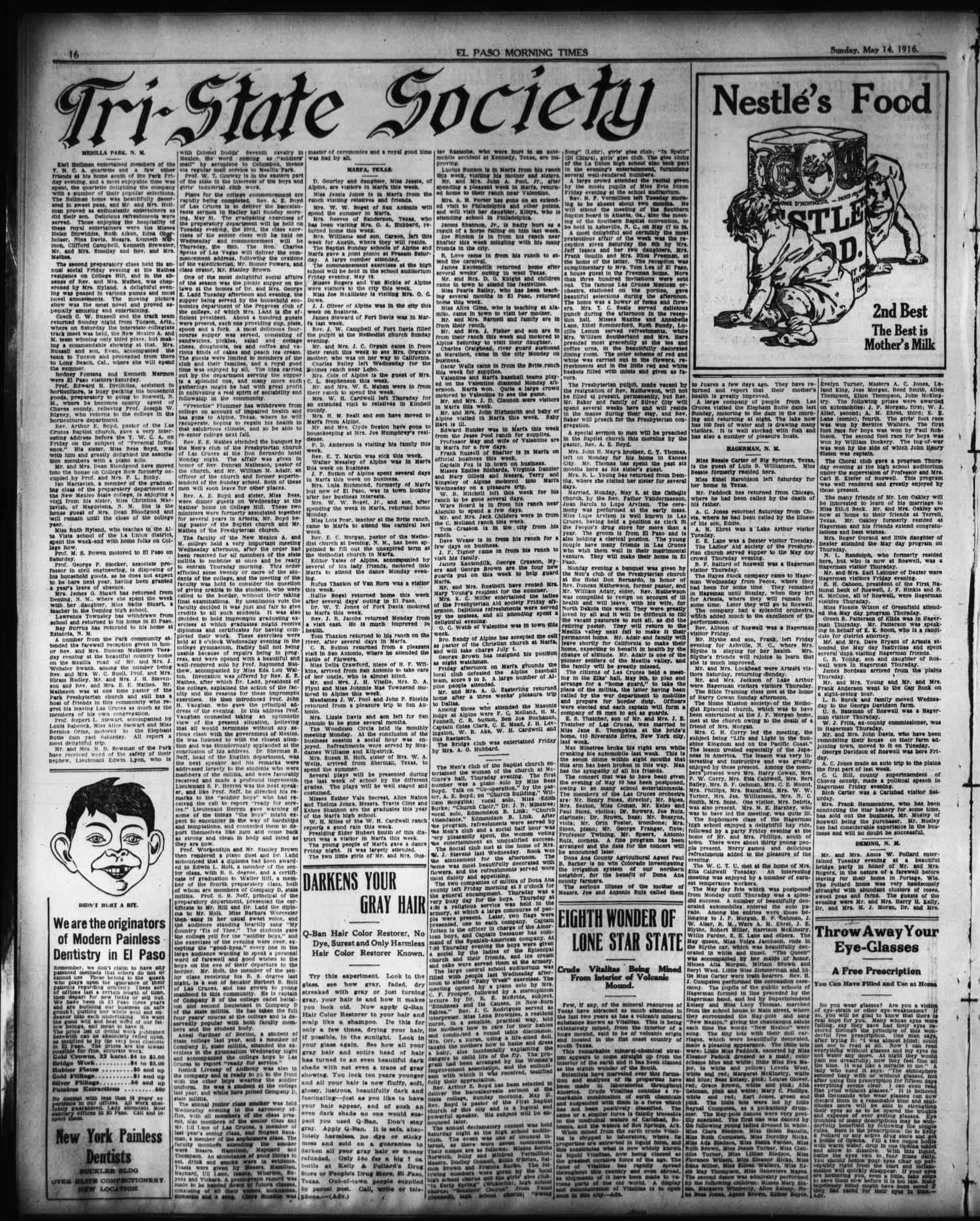El Paso Morning Times (El Paso, Tex ), Vol  36TH YEAR, Ed  1