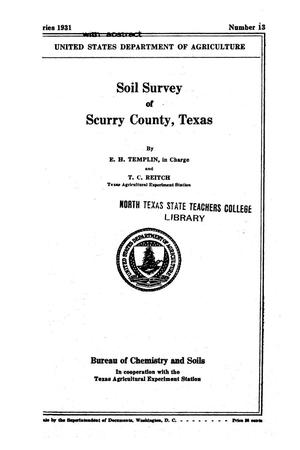 Primary view of object titled 'Soil survey of Scurry County, Texas'.