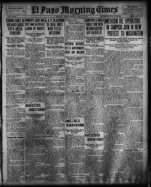 Primary view of object titled 'El Paso Morning Times (El Paso, Tex.), Vol. 36TH YEAR, Ed. 1, Monday, May 29, 1916'.