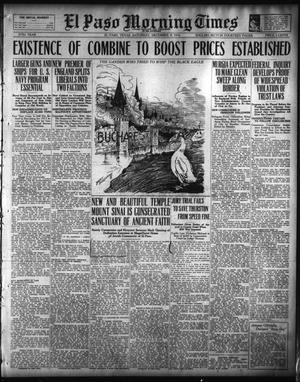 Primary view of object titled 'El Paso Morning Times (El Paso, Tex.), Vol. 37TH YEAR, Ed. 1, Saturday, December 9, 1916'.