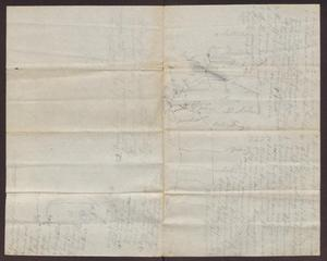Primary view of object titled '[Hand-drawn Map of Texas and Mexico]'.