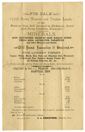 [Land sale handbill, undated]