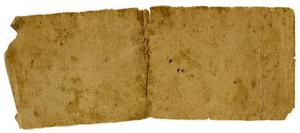 Primary view of object titled '[Blank Slip of Paper]'.