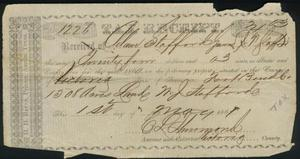 Primary view of object titled 'Tax receipt dated May 1, 1861.'.