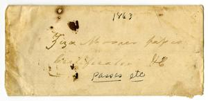 Primary view of object titled '[Empty envelope, 1863]'.