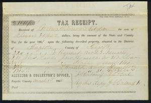 Tax receipt dated March 1, 1862.