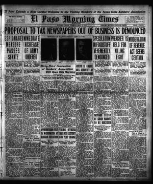 Primary view of object titled 'El Paso Morning Times (El Paso, Tex.), Vol. 37TH YEAR, Ed. 1, Tuesday, May 15, 1917'.