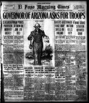 Primary view of object titled 'El Paso Morning Times (El Paso, Tex.), Vol. 37TH YEAR, Ed. 2, Sunday, May 27, 1917'.