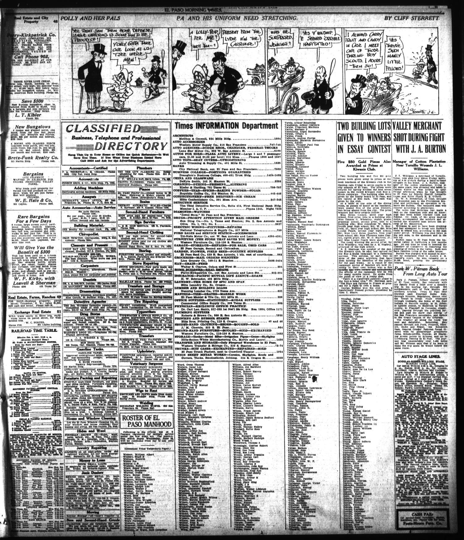 El Paso Morning Times El Paso Tex Vol 37th Year Ed 2