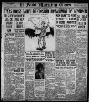 Primary view of object titled 'El Paso Morning Times (El Paso, Tex.), Vol. 37TH YEAR, Ed. 1, Tuesday, July 24, 1917'.