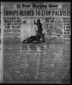 Primary view of object titled 'El Paso Morning Times (El Paso, Tex.), Vol. 38TH YEAR, Ed. 2, Monday, September 3, 1917'.